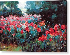 Acrylic Print featuring the painting Joy by Rosario Piazza