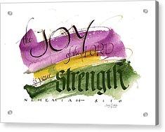 Joy Strength II Acrylic Print by Judy Dodds