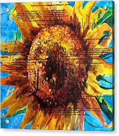 Joy - Sunflower Acrylic Print by Trish McKinney