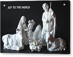 Joy To The World Acrylic Print by Angela Comperry
