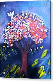 Acrylic Print featuring the painting Joy by Winsome Gunning