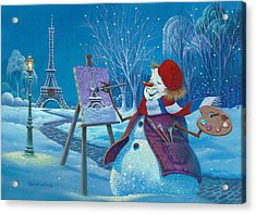Acrylic Print featuring the painting Joyeux Noel by Michael Humphries