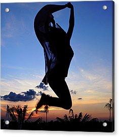 Joyful Jump Acrylic Print
