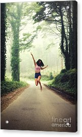 Joyful Jump Acrylic Print by Carlos Caetano