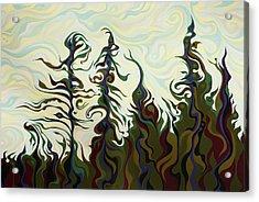 Joyful Pines, Whispering Lines Acrylic Print