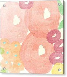 Joyful Rose Garden Acrylic Print by Linda Woods