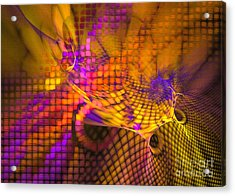 Acrylic Print featuring the digital art Joyride - Abstract Art by Sipo Liimatainen