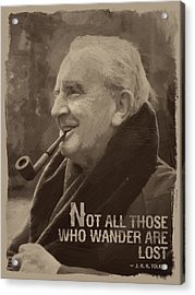 J.r.r. Tolkien Quote Acrylic Print by Afterdarkness