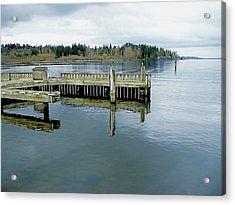 Juanita Bay In Gray Acrylic Print
