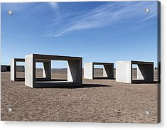 Judd's Cubes By Donald Judd In Marfa Acrylic Print