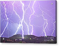 Judgement Day Lightning Acrylic Print