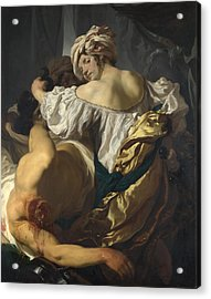 Judith In The Tent Of Holofernes Acrylic Print