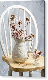 Jug Of Spring Blossom Acrylic Print by Amanda Elwell