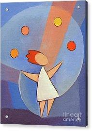 Juggler Acrylic Print by Lutz Baar