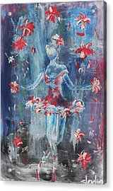 Acrylic Print featuring the painting Juggler by Sladjana Lazarevic