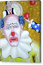 Jugglers And Clowns Acrylic Print by Don Gentle