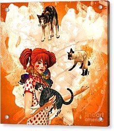 Juggling Cats Acrylic Print