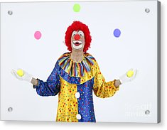 Juggling Clown Acrylic Print