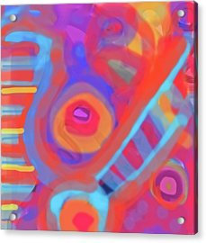 Acrylic Print featuring the painting Juicy Colored Abstract by Susan Stone