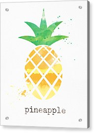 Juicy Pineapple Acrylic Print by Linda Woods