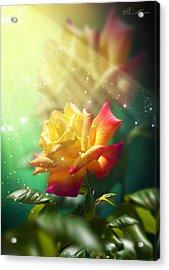Juicy Rose Acrylic Print by Svetlana Sewell