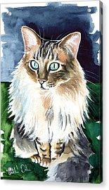 Juju - Cashmere Bengal Cat Painting Acrylic Print
