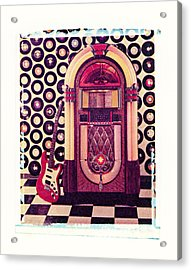 Juke Box Polaroid Transfer Acrylic Print by Garry Gay