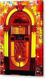 Juke Box With Christmas Lights Acrylic Print by Garry Gay