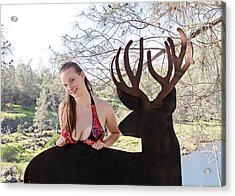 Julia And River Sculpture 2014 Acrylic Print by James Warren