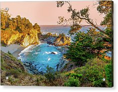 Acrylic Print featuring the photograph Julia Pfeiffer Burns State Park Mcway Falls by Scott McGuire