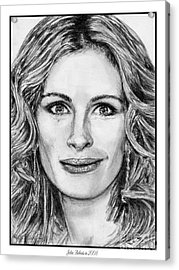 Julia Roberts In 2008 Acrylic Print by J McCombie
