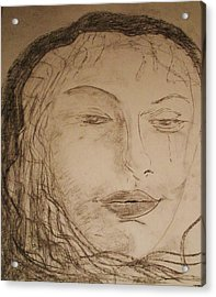 Julia Weeps Acrylic Print by J Bauer