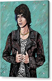 Acrylic Print featuring the painting Julian Casablancas by Sarah Crumpler