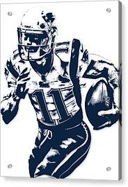 Julian Edelman New England Patriots Pixel Art 2 Acrylic Print