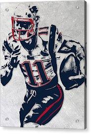 Julian Edelman New England Patriots Pixel Art 4 Acrylic Print