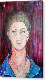 Julie Self Portrait Acrylic Print