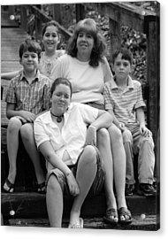 Julie's Family Acrylic Print by Lisa Johnston