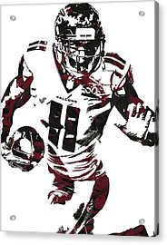 Julio Jones Atlanta Falcons Pixel Art 4 Acrylic Print