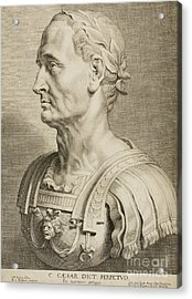 Julius Caesar Acrylic Print by Roman School