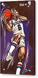 Julius Erving Acrylic Print by Dave Olsen