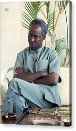 Julius Nyerere Acrylic Print by Erik Falkensteen