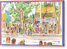 Acrylic Print featuring the painting July 4th 2000 by John Norman Stewart