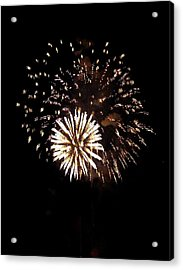 July 4th Fireworks Acrylic Print by Jeanette Oberholtzer