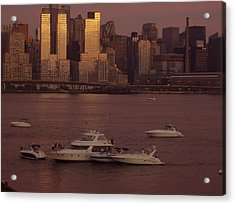 July 4th On The Hudson Acrylic Print by Wendy Uvino