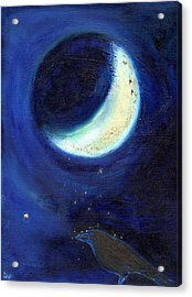 July Moon Acrylic Print by Nancy Moniz