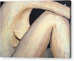 July Nude Acrylic Print by Deborah Rosier