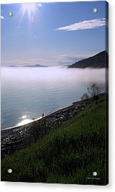 July Stroll On Lake Superior Acrylic Print by Laura Wergin Comeau