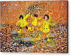 Jump In The Puddle Acrylic Print