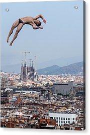 Jump Acrylic Print by Klaus Lenzen