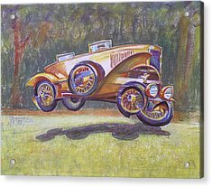 Jumpin Auburn Car Acrylic Print by Gary Peterson